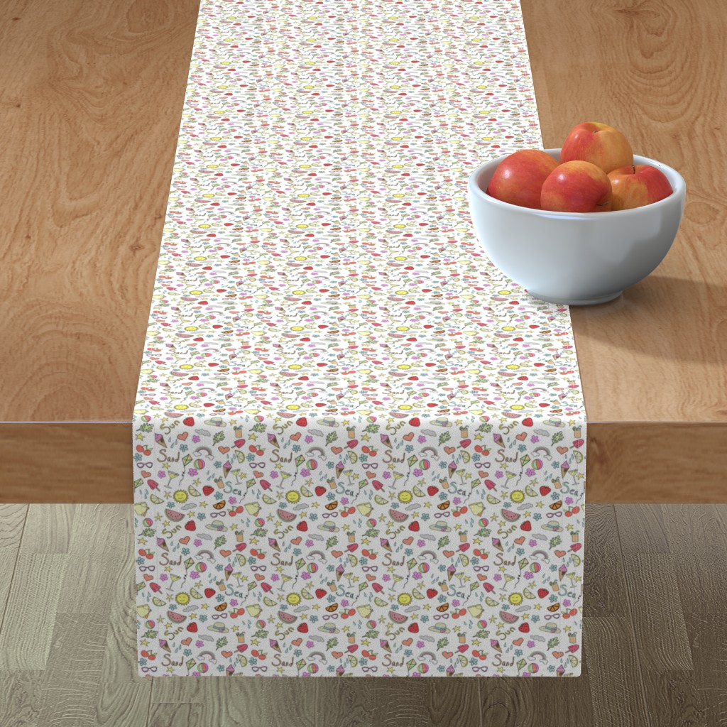 Minorca Table Runner featuring Summer Holidays by esmedesign