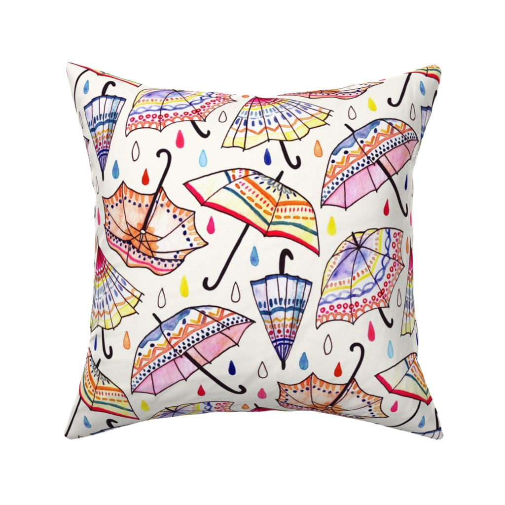 Catalan Throw Pillow featuring   What Goes Up When Rain Comes Down? (Large Version) by tigatiga