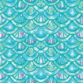 Scales Turquoise Large
