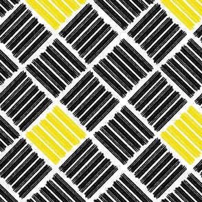 Brush Stroke Geometric Black and Yellow