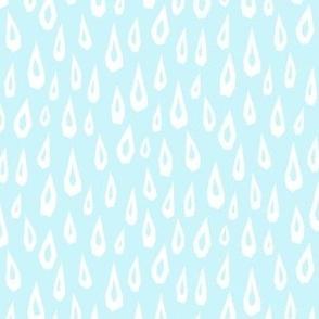 Raindrop Collage - White on Baby Blue -  © Autumn Musick 2019