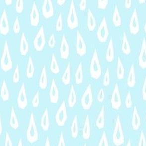 Raindrop Collage - White on Baby Blue -  © Autumn Musick 2021
