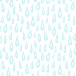 Raindrop Collage - Blue on White - © Autumn Musick 2019