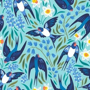 Spring swallows
