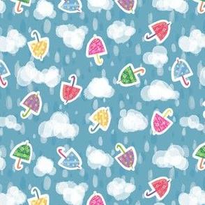 Rainy Rainbow Umbrellas