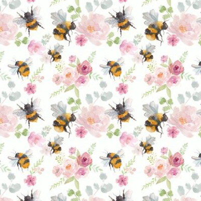 Small-scale bumblebees and florals