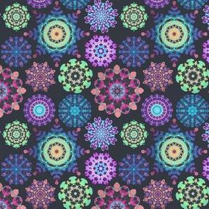 Mini kaleidoscope jewels - blue, purple,pink