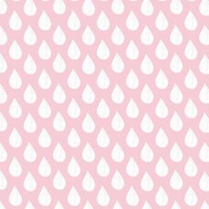 Pink Raindrops Small