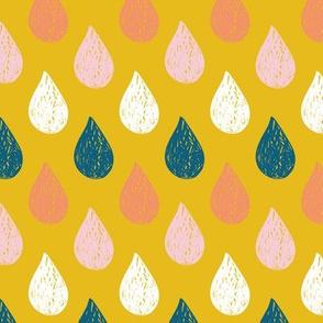 Raindrops graduated colour medium