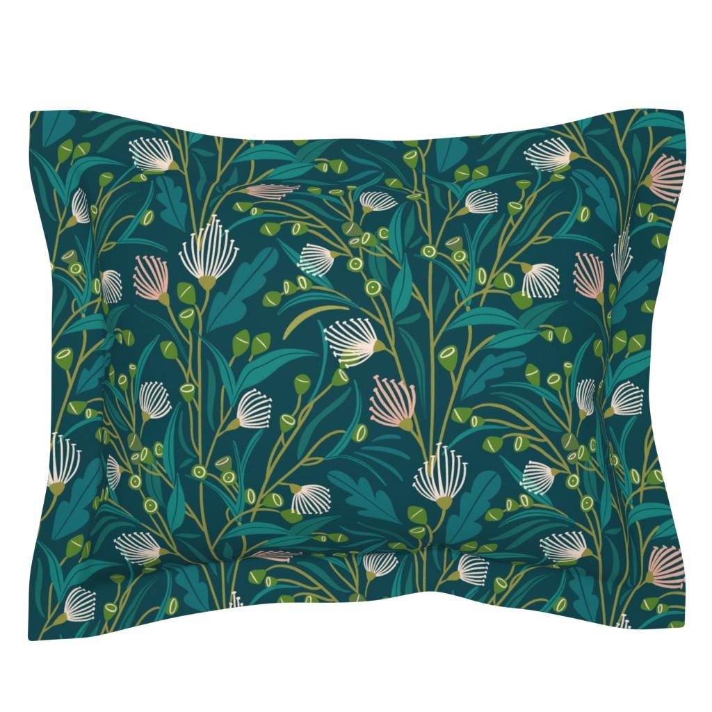 Sebright Pillow Sham featuring Vertical eucaliptus by natalia_gonzalez