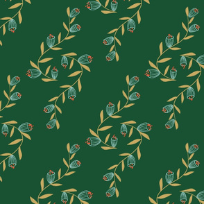 vines on green background