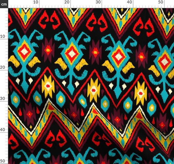 Native American Embroidered Diamond Rich - Spoonflower