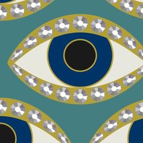 Eye Ring lg: Turquoise