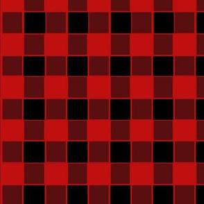 Buffalo Check Bold Red and Black