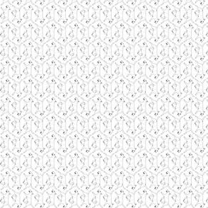Small Trotting Miniature white Bull Terrier border vertical - white