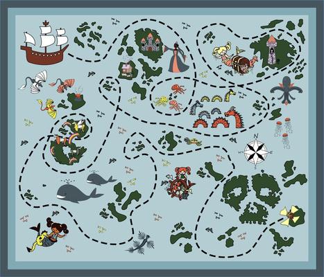 pirates and mermaids playmat