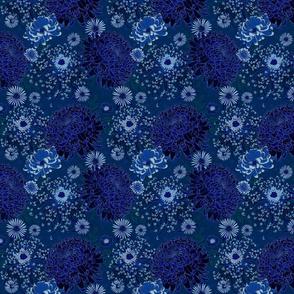 "Moody Blue Japanese Chrysanthemums 6"""