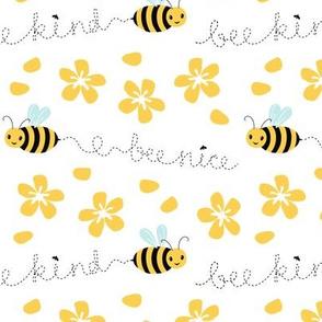 Bee Nice on white 6''