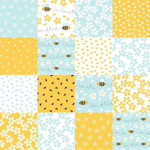 Bee Nice cheater quilt 6''