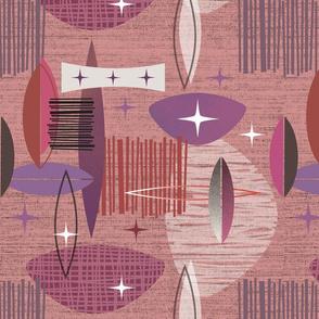 Mid Century Modern graphic pink