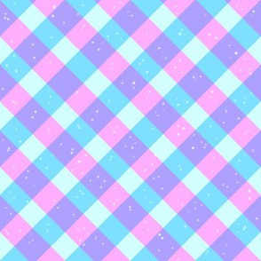 Pastel Gingham With Sparkles