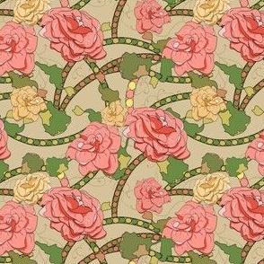 Woodblock Rose Garden