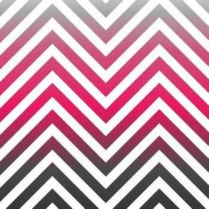 Magenta chevron herringbone pattern with gray gradient