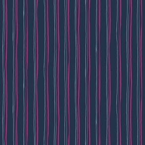 Thin Irregular Vertical Stripes / Gray