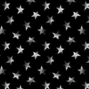 Starry night • hand painted stars pattern for modern nursery
