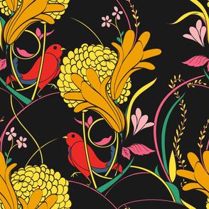 Floral Garden - Midnight (jumbo)