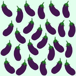 Cute eggplant