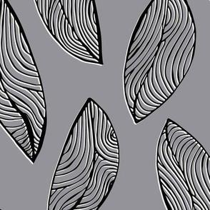 Woodgrain Leaves - Desaturated