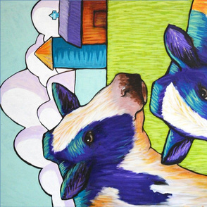 SF Dairy two cows towel