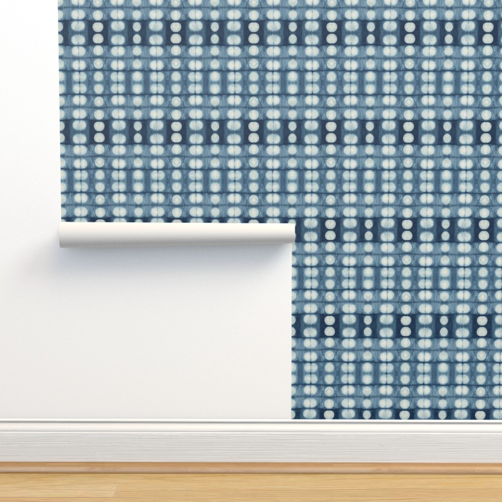 Isobar Durable Wallpaper featuring shibori pleats by lily_studio