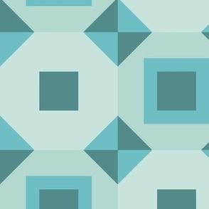 Geometric Blue Portugesse Tiles