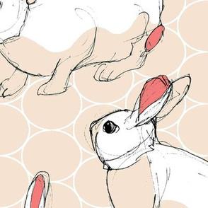 Jumbo Sketchy Bunnies Warm