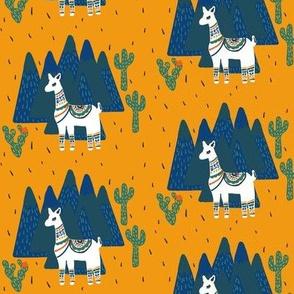 Llama Land in Yellow