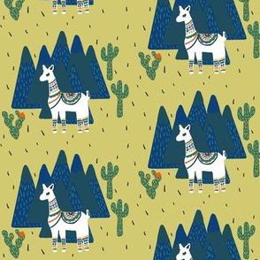 Llama Land on Green