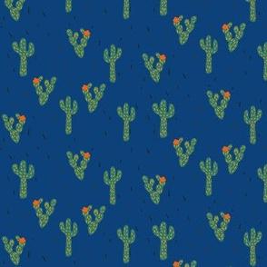Cactus Desert in Blue
