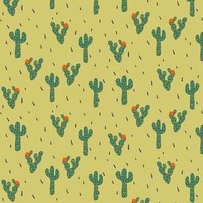 Cactus Desert in Sage Brush