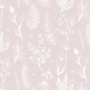 Botanical White Pink