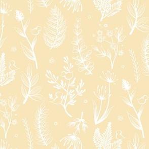 Botanical White Yellow