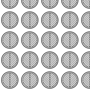 Black and White Stripes in Circles