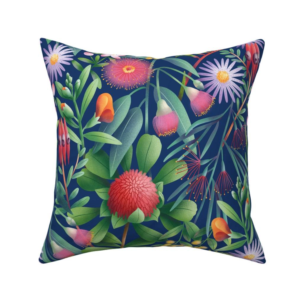 Catalan Throw Pillow featuring Australian flora pattern by stolenpencil