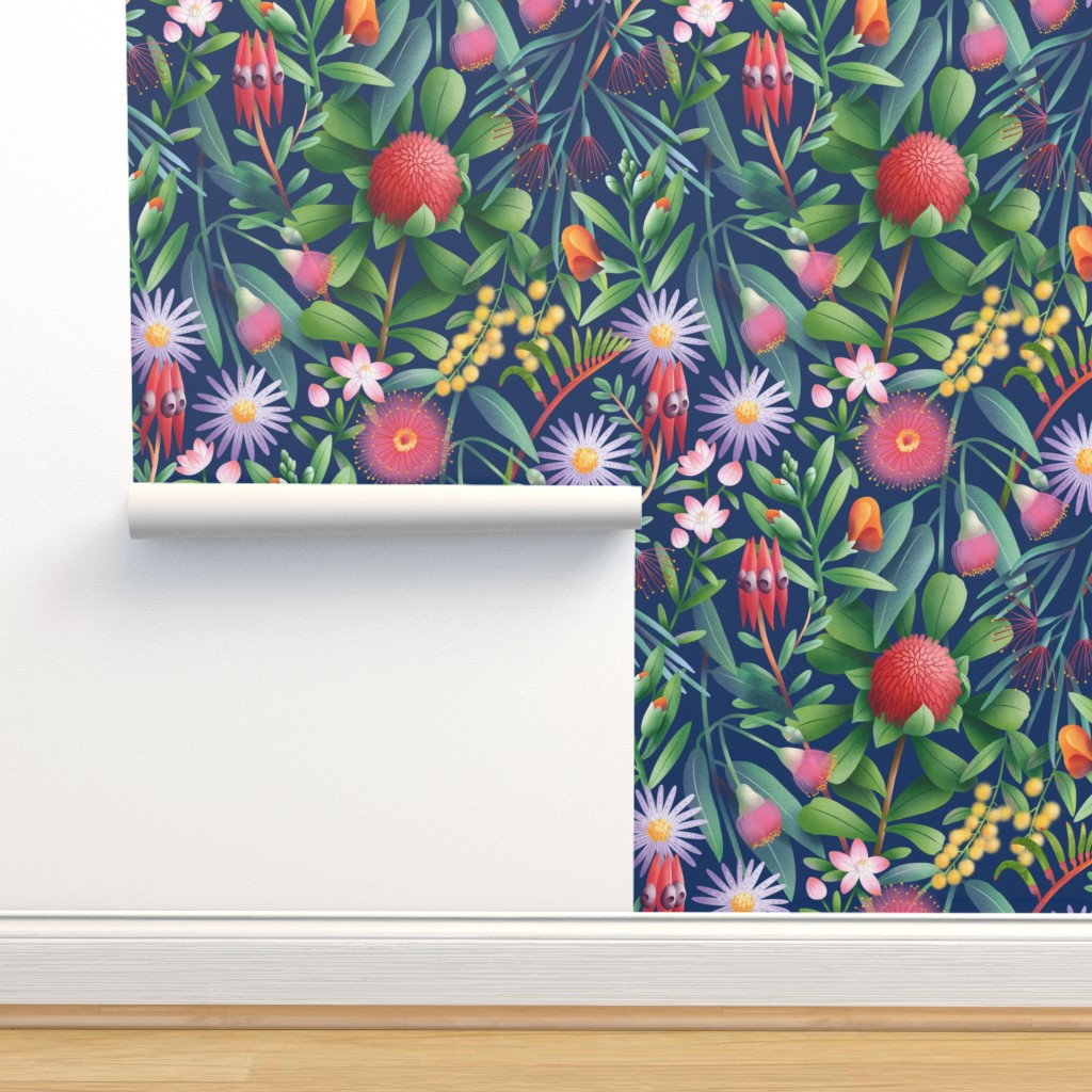 Isobar Durable Wallpaper featuring Australian flora pattern by stolenpencil