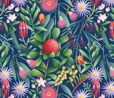 Australian flora pattern