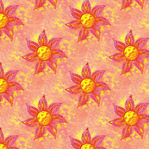 Pink and Yellow Sunshine Flowers