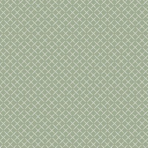 Bead Box: Sage Green & Cream Beaded Argyle, Diamond Grid