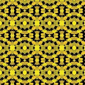 Ginko gold black pattern