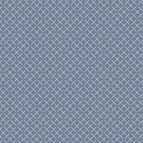 Bead Box: Dusty Blue & Cream Beaded Argyle, Diamond Grid